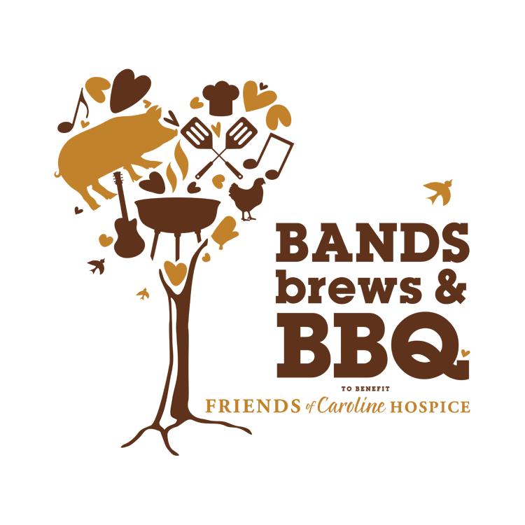PickleJuice Logo Design : Friends of Carolina Hospice - Bands Brews & BBQ
