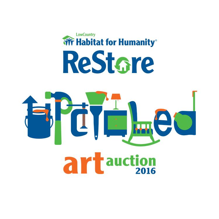 PickleJuice Logo Design : Restore Upcycled Art Auction