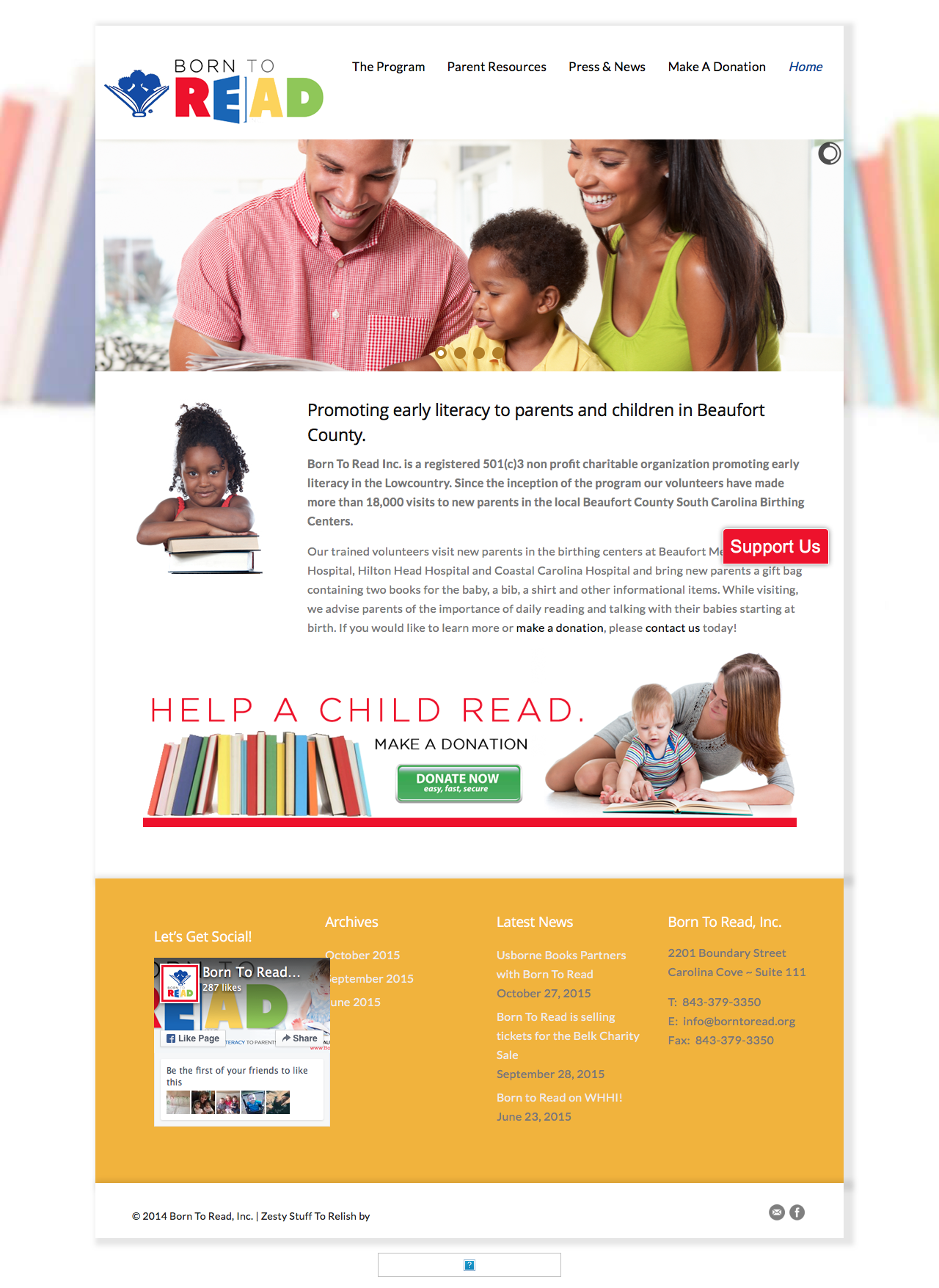 Beaufort Website Design |Born To Read : Promoting early literacy to parents and children in Beaufort County. | Born To Read Inc. is a registered 501(c)3 non profit charitable organization promoting early literacy.