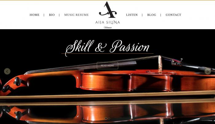 Aija Silina Web Design| Violinist