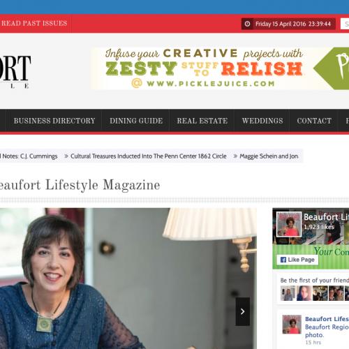 Beaufort Lifestyle Magazine Web Design | PickleJuice Productions