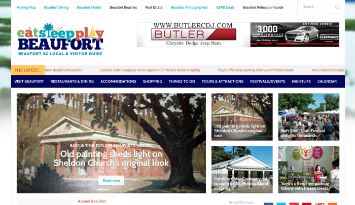 Beaufort Web Design | Best Local Travel & Tourism Guide | PickleJuice Productions