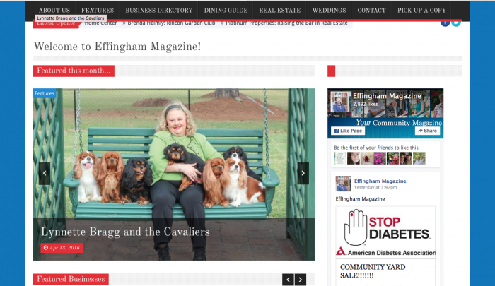 Effingham Magazine Web Design | PickleJuice Productions