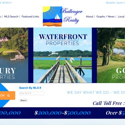 Ballenger Realty Web Design | Beaufort, South Carolina Real Estate Logo | PickleJuice Productions