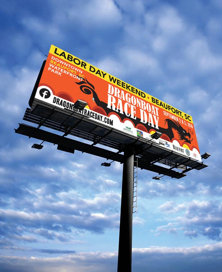 Billboard Design - Dragon Boat Beaufort - PickleJuice.com