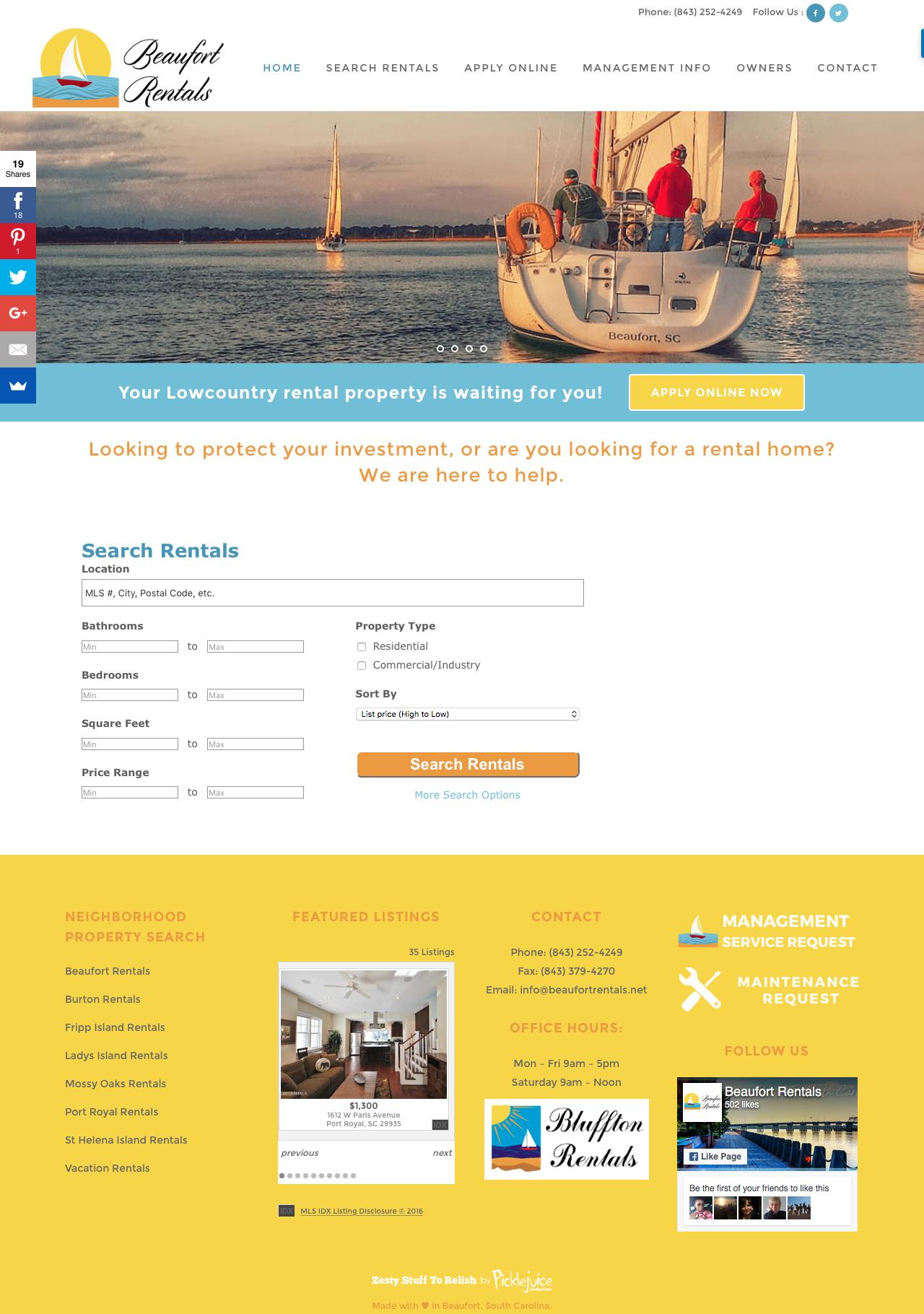 Beaufort Sc Rentals Picklejuice Award Winning Web Design Branding And Digital Marketing