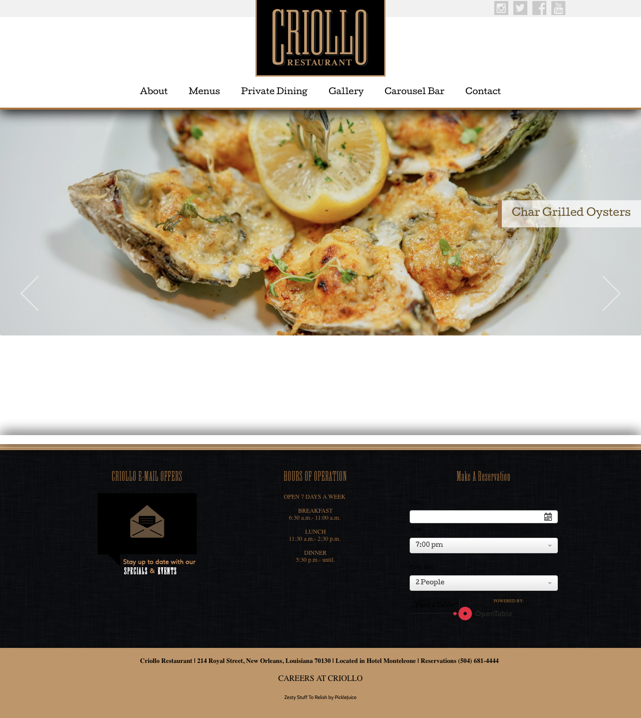 Beaufort Web Design | Criollo NOLA | Hotel Monteleone « New Orleans Luxury Hotel & French Quarter Hotel ‹