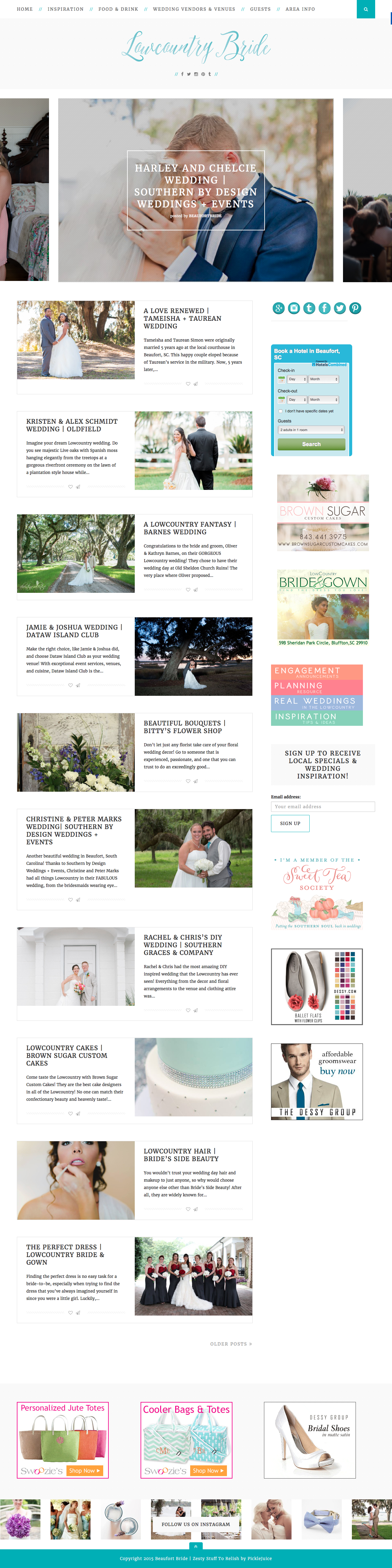 Lowcountry Bride Web Design | PickleJuice Productions