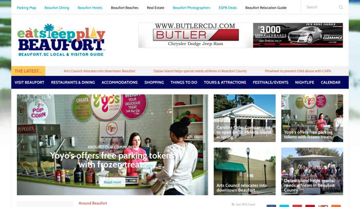 Eat Sleep Play Beaufort Web Design   PickleJuice Productions