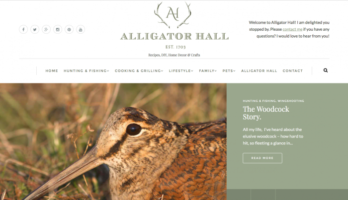 Sara Sanford's Alligator Hall Web Design| Recipes, DIY, Home Decor & Crafts