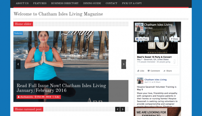 Beaufort Website Design | Chatham Isles Living Magazine | PickleJuice Productions