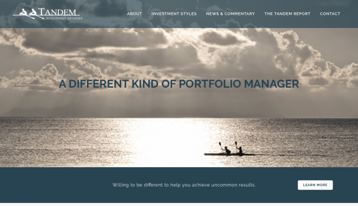 Beaufort Website Design | Tandem Investment Advisors | PickleJuice Productions