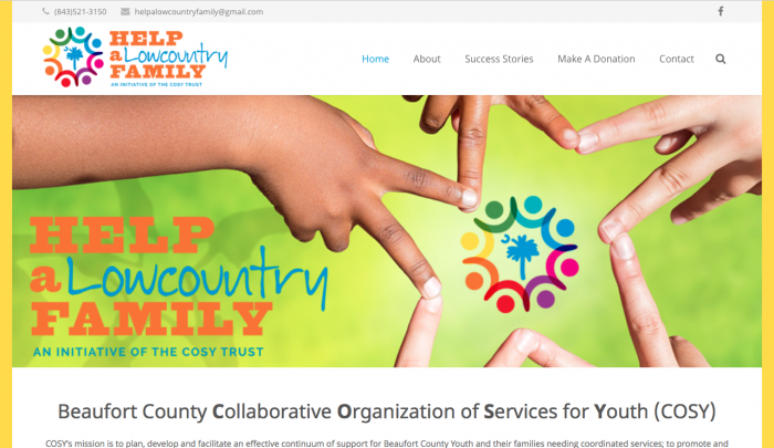 Help A Lowcountry Family Web Design   PickleJuice Productions