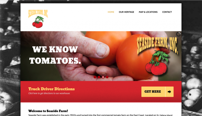 Beaufort Website Design | Seaside Farm, Inc. | PickleJuice Productions