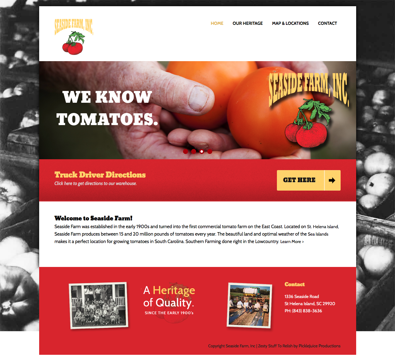 Beaufort Web Design | Seaside Farm | PickleJuice Productions