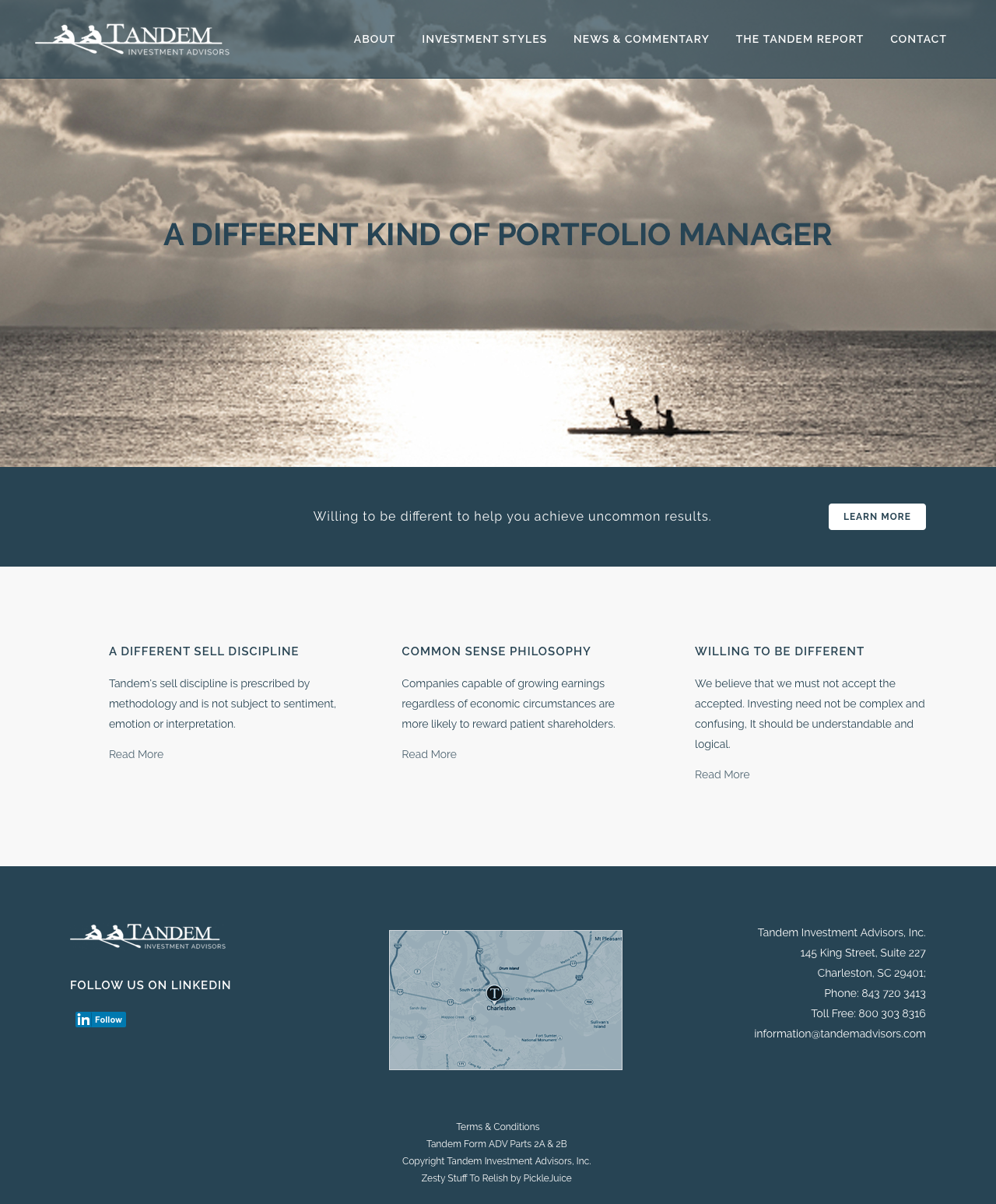 Beaufort Web Design | Tandem Investment Advisors | Tandem Investment Advisors | Charleston, SC