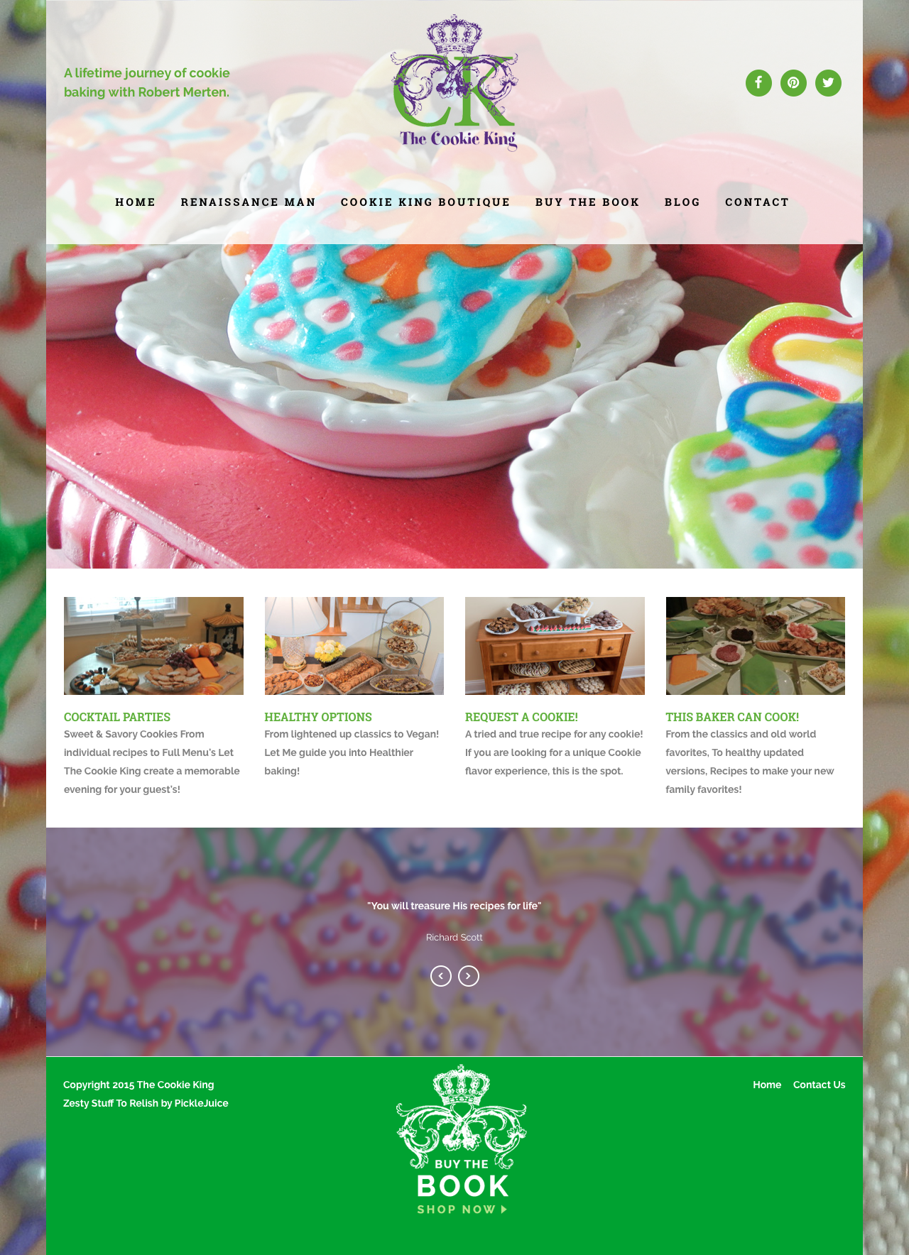 The Cookie King | A Lifetime Journey of Cookie Baking Web Design | PickleJuice Productions
