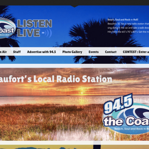 94.5 The Coast Web Design | Beach, Soul and Rock-n-Roll
