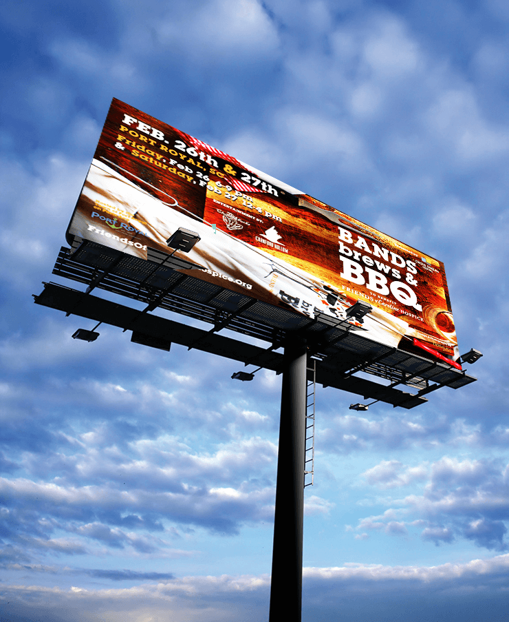 Billboard Design - Bands Brews BBQ - PickleJuice.com