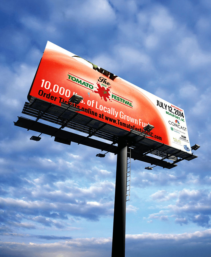 Billboard Design - Tomato Festival - PickleJuice.com