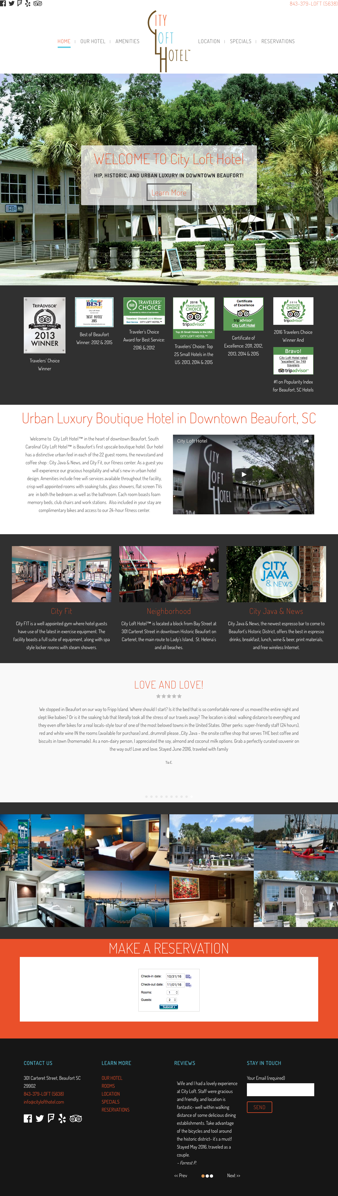 CITY LOFT HOTEL in the Historic District - Beaufort, SC   PickleJuice Productions