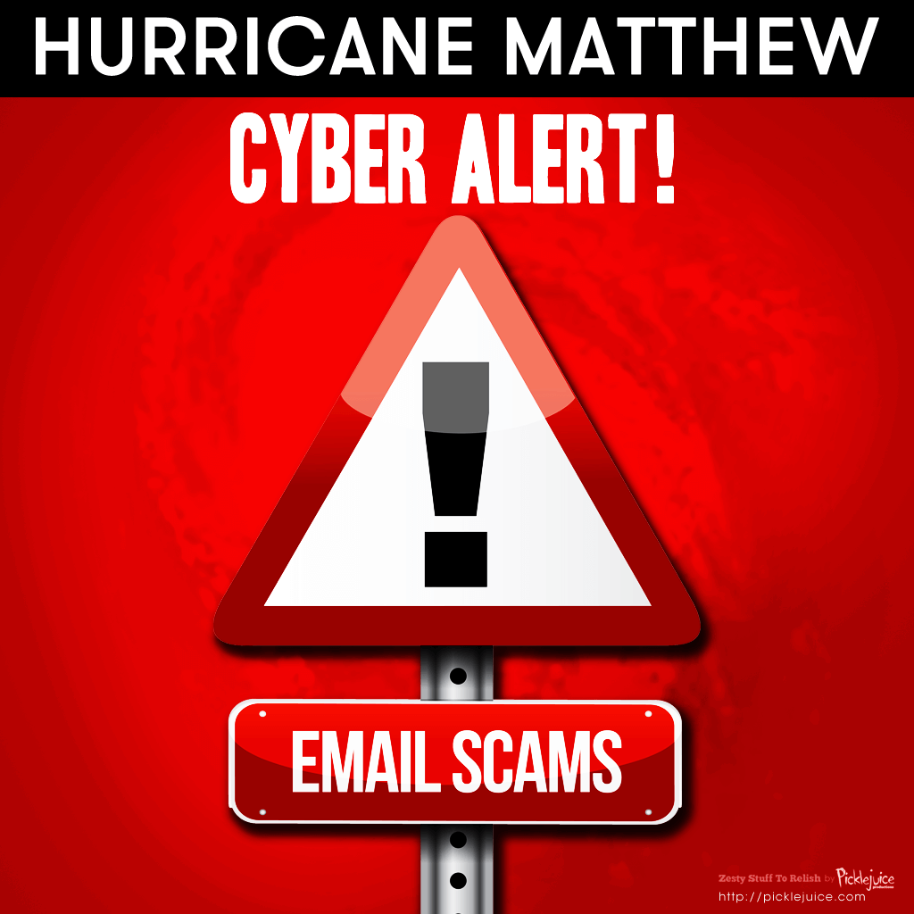 Hurricane Matthew South Carolina Cyber Email Scam Alert