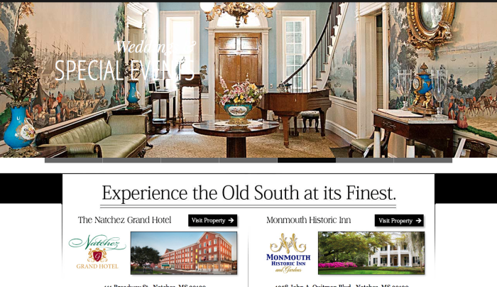 Experience the Old South at it's finest in Natchez, MS at The Natchez Grand Hotel and The Monmouth Plantation. | PickleJuice Productions